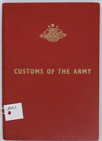 Red Book, Customs of the Army, 1965
