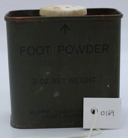 Foot powder containter X3, June 1971