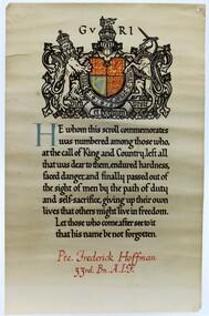 Certificate - Commemorative Scroll 1914-1918