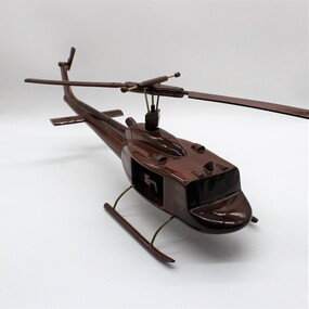 Handcrafted model of Huey Helicopter.