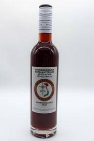Bottle of Port raised by Vietnam Veterans Association of Australia to commemorate 50th Anniversary of VV Day