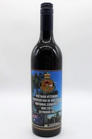 Memorabilia - Bottle of Red Wine, Commemorating Vietnam Veterans Association of Australia, 2015