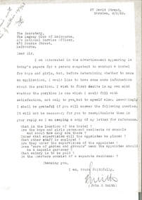 Letter - Document, letter, 1943