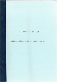 Document - Document, report, Annual Review of Operations 1987, 1987