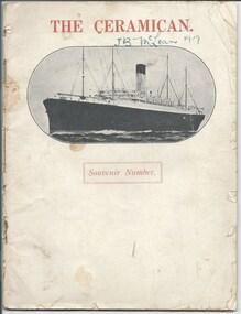 Booklet - Document, magazine, The Ceramican. Souvenir Number, 1920