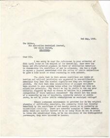 Letter - Document, letter, 1946