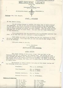 Journal - Document, newsletter, Legacy Newsletter, 1961 and 1962