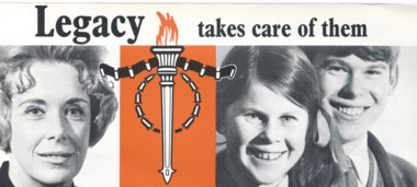 Pamphlet - Document, brochure, Legacy takes care of them, 1970