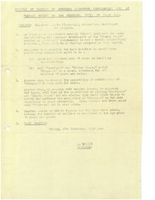 Document - Document, minutes, Minutes of meeting of Steering Committee (Residences), 1975
