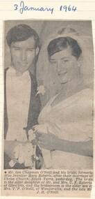 Newspaper - Document, newspaper article, Wedding, 1959