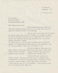 Letter - Document, letter, Tobruk Photos, 1979