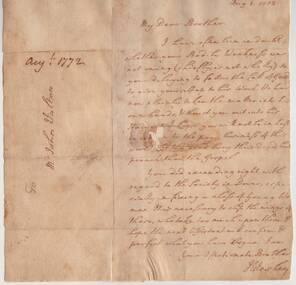 Letter, August 3 1772