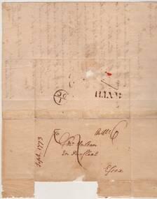Letter, September 29 1773