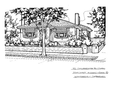Drawing (series) - Architectural drawing, 32 Cooloongatta Road, Camberwell, 2000