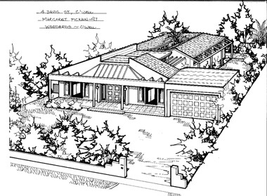 Drawing (series) - Architectural drawing, 4 Davis Street, Camberwell, 1997