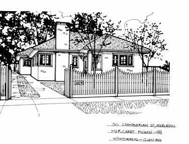Drawing (series) - Architectural drawing, 30 Chamberlain Street, Ashburton, 1999