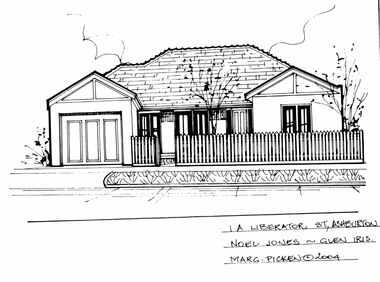 Drawing (series) - Architectural drawing, 1A Liberator Street, Ashburton, 2004