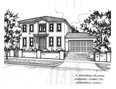 Drawing (series) - Architectural drawing, 8 St Andries Street, Camberwell, 1996