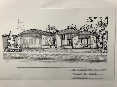 Drawing (series) - Architectural drawing, 28 Glencairn Avenue, Camberwell, 2002