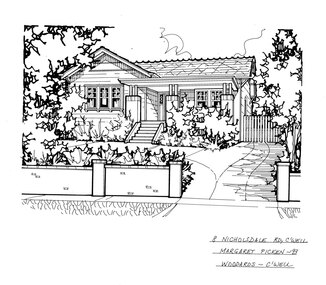 Drawing (series) - Architectural drawing, 8 Nicholsdale Road, Camberwell, 1993