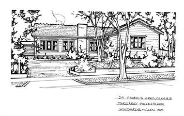 Drawing (series) - Architectural drawing, 24 Francis Crescent, Glen Iris, 2001