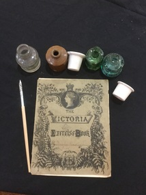 Ink bottle, c1915 - Exercise book