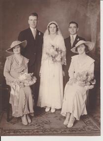 Digital photograph, Wedding of Theresa Wallis and Allan Dunn, 1935