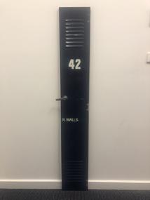 Locker door, No.42, R. Walls, Circa 1960s
