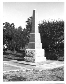 Photograph of the Soldiers' Memorial, Tarnagulla, Soldiers' Memorial, Tarnagulla, Unknown, probably between 1918 and 1970