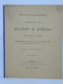 Book, Baron Ferdinand von Mueller et al, EUCALYPTOGRAPHIA. Fifth Decade, 1880