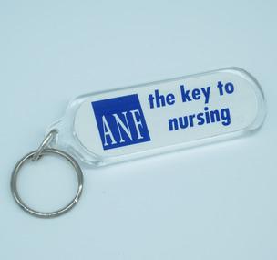Australian Nursing Federation keyring, [1995-2000s?]