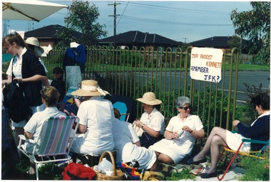 Photograph of industrial action taken by nurses at Sunshine Hospital, Melbourne, Victoria, 1993
