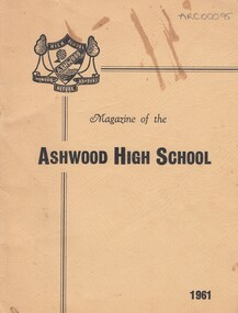 School Magazine- 1961, Ashwood High School Magazine- 1961, 1961