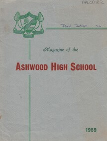 School Magazine- 1959, Ashwood High School Magazine- 1959, 1959