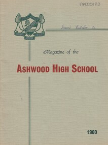 School Magazine- 1960, Ashwood High School Magazine- 1960, 1960