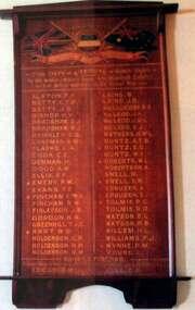 Honour Board, Kew Bowling Club's World War 1 Honour Board