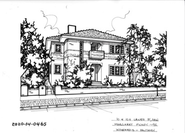 Drawing - Property Illustration, 10 & 10A Lawes Street, Hawthorn, 1993
