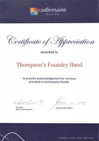 Certificate, Castlemaine Health, C2010