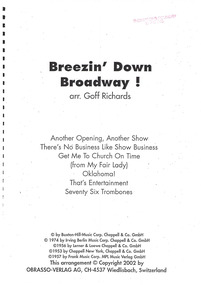 Document - Sheet Music, Breezin Down Broadway!, 2002