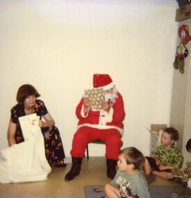 Photograph, Father Christmas at Park Orchards Community House, Unknown date