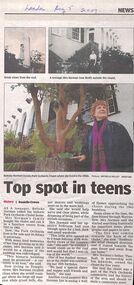 Newspaper Article, Betteke Norman recalls her time living at Park Orchards Chalet, 5th August 2009