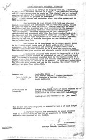 Article - Park Orchards Property Inspection Report 1940 by Military