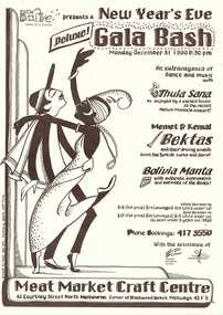 NYE Poster 1990, New Years Eve Gala Poster 1990