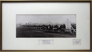 Photograph - Framed photo finish, A. Copley, Akeley, winner, Richmond  Ladies Bracelet 3/11/1919, 3 November 1919