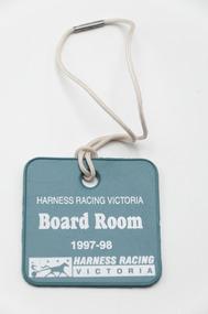 Badge - Membership, Harness Racing Victoria, Season 1997/98