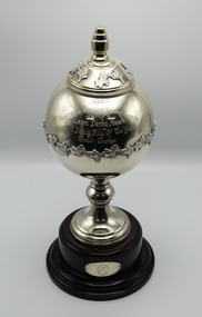 Memorabilia - Silver trophy, Mother Courage, 1999 Lawn Derby Award, 3yo Pacing Filly of the Year