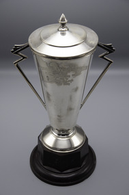 Memorabilia - Silver trophy, Air King, 1936 Charlton A & P Society Show, Champion Pacing Stallion