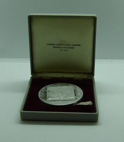 Medal and Case, Medal and Case - 1963 Victorian Paraplegic Games Silver Medal - Kevin Coombs, Basketball, 1963