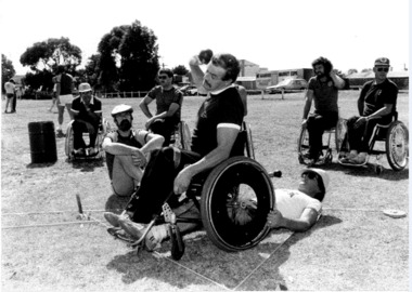 Photograph, Photo from Mt Gambier Games, likely circa mid 1980s, 1980s
