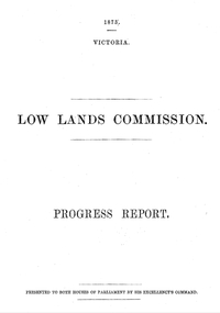 Royal commission, Low Land Commission Report 1873